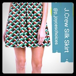 d1294050a19 ... J crew 100% silk Geo lattice design skirt ...